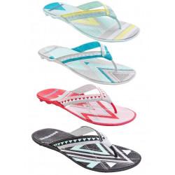 Boombuz Lola dressed multicolori, flip-flops, divisori, sandali-da-spiaggia, affilacoltelli