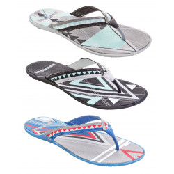 Boombuz Men Taiga dressed multicolor, Toe dividers, flip-flops, beach sandals